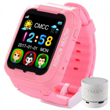 Ceas GPS Copii iUni Kid3, Telefon incorporat, Touchscreen 1.54 inch, Bluetooth, Notificari, Camera,